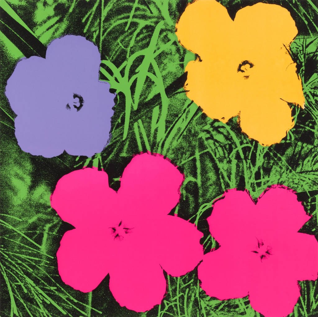 the story behind andy warhol 39 s flowers garden collage magazine. Black Bedroom Furniture Sets. Home Design Ideas