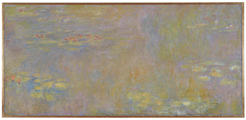 Claude Monet, 1840 - 1926 Water-Lilies after 1916 Oil on canvas, 200.7 x 426.7 cm Bought, 1963 NG6343 http://www.nationalgallery.org.uk/paintings/NG6343